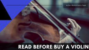 Read Before Buy A Violin