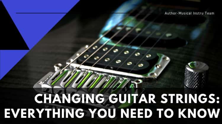 Change electric guitar string