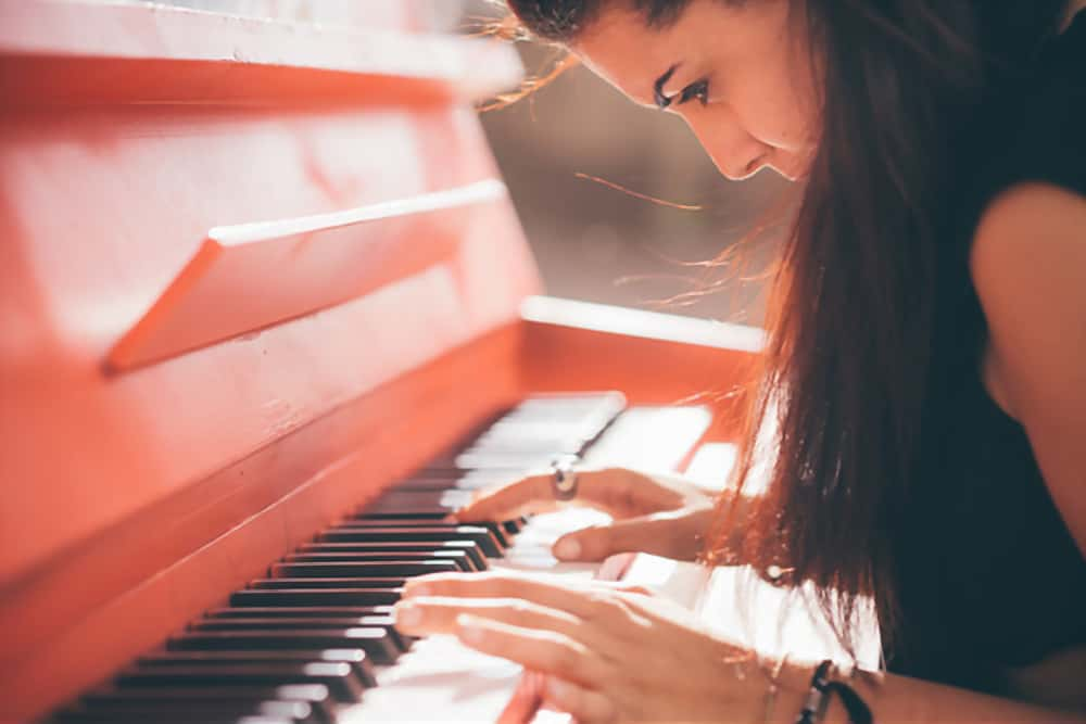 piano playing girl