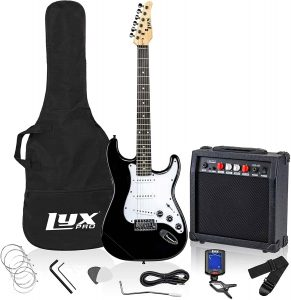 LyxPro Electric Guitar 39 inch Complete Beginner Starter kit Pack