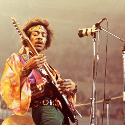 UNITED KINGDOM - FEBRUARY 24: Photo of Jimi HENDRIX; performing live onstage David Redfern Premium Collection (Photo by David Redfern/Redferns)